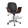 VIDAXL okretajuća stolica od eko kože s naslonima za ruke 241057