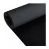VIDAXL gumijasta nedrseča podloga s finim rebrastim vzorcem (2x1m), črna