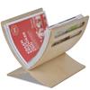 VIDAXL leseno stojalo za revije naravne barve