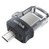 SANDISK usb memorija ULTRA DUAL DRIVE M3.0 - SDDD3-016G-G46  USB 3.0 / microUSB, 16GB, do 130 MB/s, Crna/siva