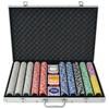 VIDAXL poker set s 1000 laserskimi žetoni, aluminij