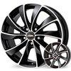 Rial platišča 4x108  ET25  6.5x16  RIAL LUGANO črna 65.1 ( Citroen. Peugeot )