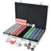 VIDAXL poker set s 1000 žetoni, aluminij