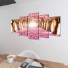 VIDAXL set platen s printom cvetenja češenj (100x50cm)