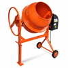 vidaXL Čelična mješalica za beton,140 L 650 W, narančasta