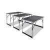 VIDAXL zložljive mize nastavljive po višini 3 kos