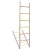 VIDAXL bambusova lestev za brisače s 6 letvicami