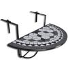VIDAXL viseča balkonska miza mozaik