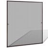 VIDAXL mreža proti insektom za okna (130x150cm), rjava