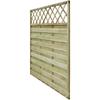 VIDAXL lesena kvadratma plošča za ograjo z rešetko (180cm)