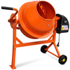 vidaXL Električna mješalica za beton, čelična, 63 L 220 W, narančasta