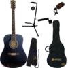 IvanS guitar AD-10 Black Set set akustična gitara