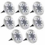 VIDAXL solarna LED talna svetilka (toplo bela), 8 kosov