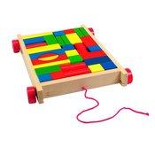 WOODY otroški voziček s kockami