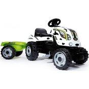 SMOBY traktor na pedala s prikolico Cow Farmer XL