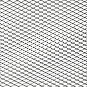 ukrasna mreža za branik, 125 x 25 cm, aluminijska, srebrna