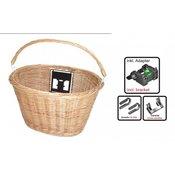 Košara za na krmilo z nosilcem Loehr, pletena