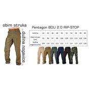 PENTAGON Pantalone BDU RIP-Stop 2.0 Woodland 2XL