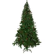 VIDAXL umetno božično drevo s storži 210 cm