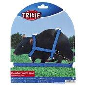 TRIXIE Povodac i am za pacove i afričke tvorove plavi