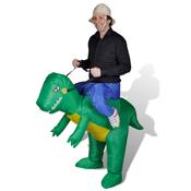 vidaXL Napihljiv kostum dinozavra