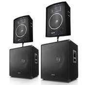PA Set Berlin Bassline 2000 Watt 2.2 Set, 2x zvočnik, 2x subwoofer (2.2-2000-Watt)