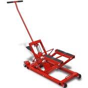 VIDAXL hidravlična dvigalka za Motorna Kolesa/Terenska Vozila 680 kg Rdeče Barve