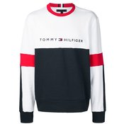 Tommy Hilfiger - logo embroidered sweatshirt - men - Blue