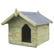 vidaXL Vrtna kucica za pse od impregnirane borovine s pomicnim krovom FSC