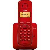 Telefon SIEMENS Gigaset A120, bežicni, crveni