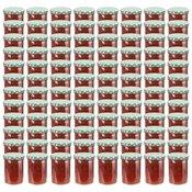 vidaXL Staklenke za džem s bijelo-zelenim poklopcima 96 kom 400 ml