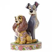 THE JIM SHORE Lady and Tramp 60th Anniversary Figurine - 4046040 Disney, 17 cm