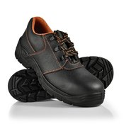 [pro.tec]® Zaščitni delovni čevlji št. 41, kat. S3 vodoodbojni udobni čevlji z jeklenim vložkom v črni/oranžni barvi