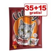 35 + 15 gratis! Catessy palčke 50 kosov - Bar-B-Q z lososom