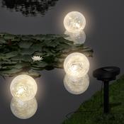 VIDAXL plavajoče okrogle solarne LED luči 3 kosi za ribik / bazen
