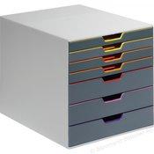 Durable Durable Kutija s ladicama VARICOLOR 7 - 7607 760727 Siva DIN A4, DIN C4, Folija, Pismo Broj pretinaca za uvlacenje: 7