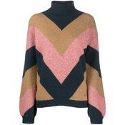 Victoria Victoria Beckham - zigzag striped jumper - women - NEUTRALS