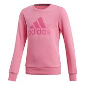 adidas YG MH BOS CREW, pulover o., roza