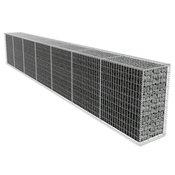 vidaXL Gabionski Zid s Poklopcem 600x50x100 cm