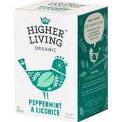 Higher Living Peppermint & Licorice Tea - 15 Vrećica