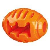 Pasja igrača – rugby žoga, oranžna, 10 cm