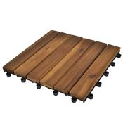 VIDAXL ploščice iz akacije - vertikalni vzorec (30x30cm), 30 kosov