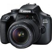 CANON D-SLR fotoaparat EOS 4000D + objektiv EF-S 18-55 + objektiv 75-300