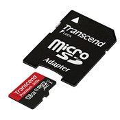 TRANSCEND spominska kartica SDXC Micro 128GB C U1 (TS128GUSDU1) + adapter