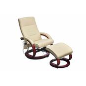 VIDAXL elektricni naslonjac/masažer, krem