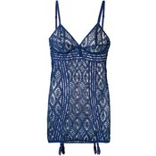 Else-crochet slip dress-women-Blue