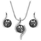 Troli Set ogrlic in uhanov Chaton Wave Silver Night