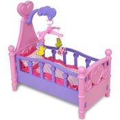 VIDAXL otroška posteljica za lutke/punčke, roza-vijolična