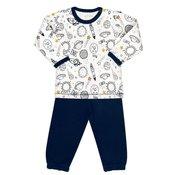 Nini ABN-1711 fantovska pižama, belo-modra, 80