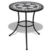 VIDAXL mizica z mozaikom (60cm), črna-bela